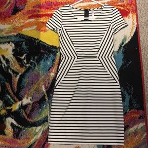 NWOT Striped fitted work dress